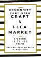Craft Sale & Flea Market 4/28 Cupertino